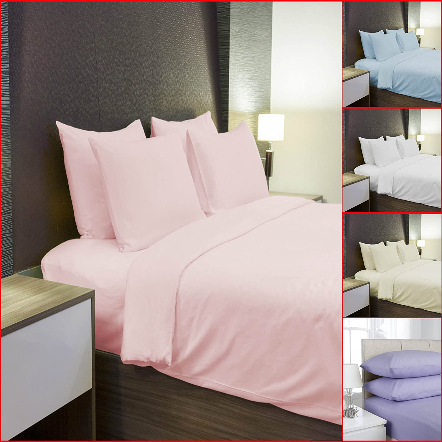 Pillowcases Pair 100/% Brushed Cotton Thermal Flannel Fitted Sheet Flat Sheet