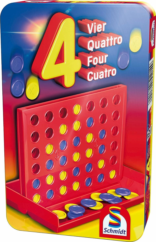 51438 Bring Mich mit Spiel in Der Metalldose Juego de Escalera Color carb/ón Schmidt Spiele- Minions