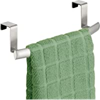 InterDesign Axis Over-The-Cabinet Curved Kitchen Dish Towel Bar Holder - Bronze