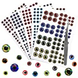 Green Fishing Lures Jigs 50 Pack of 10mm 3D FISH EYES Iridescent clear Orange
