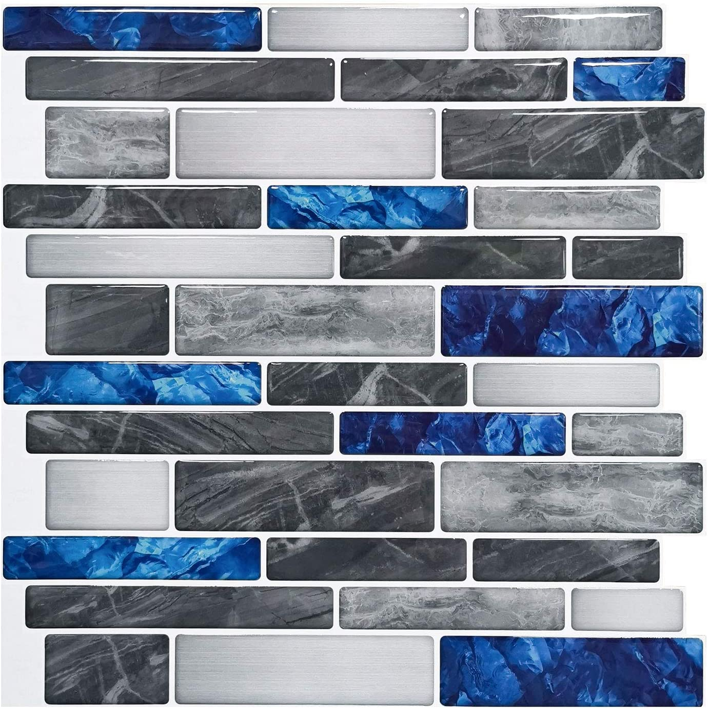 Art3d 10 Sheet Premium Self Adhesive Kitchen Backsplash Tiles In Marble 12 X12 Amazon Com
