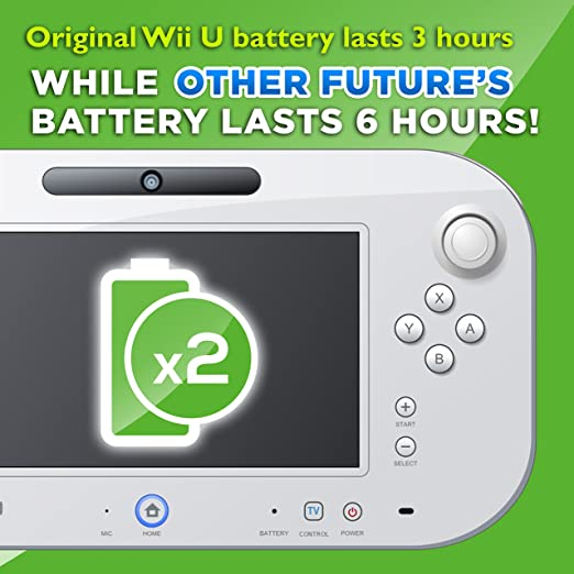 Wii U GamePad 3600 mAh Replacement Rechargeable Battery Pack by Other Future