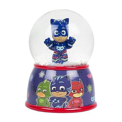 Disney Christmas Snow Globes.Disney Pj Masks Gekko Blue Christmas Snow Globe Coin Bank