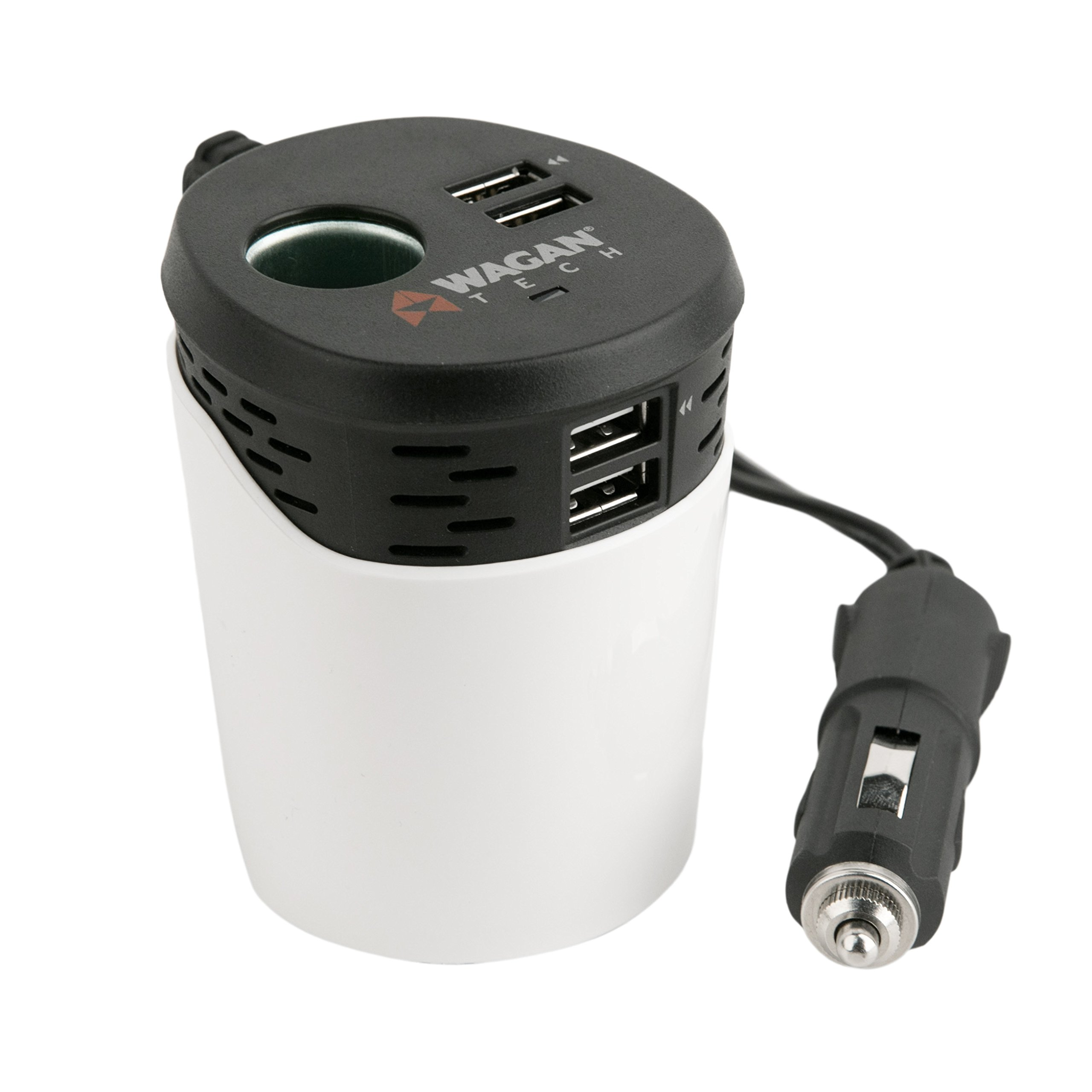 Wagan (EL2886) Travel Charge Series USB 6.2 Amp Quad Power Cup