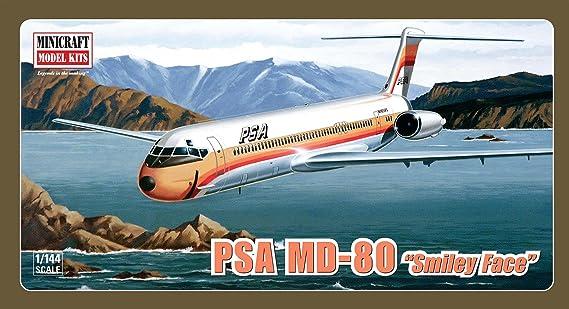 Minicraft McDonnell Douglas DC-9 série MD-80 1//144 Scale Model Aircraft Kit
