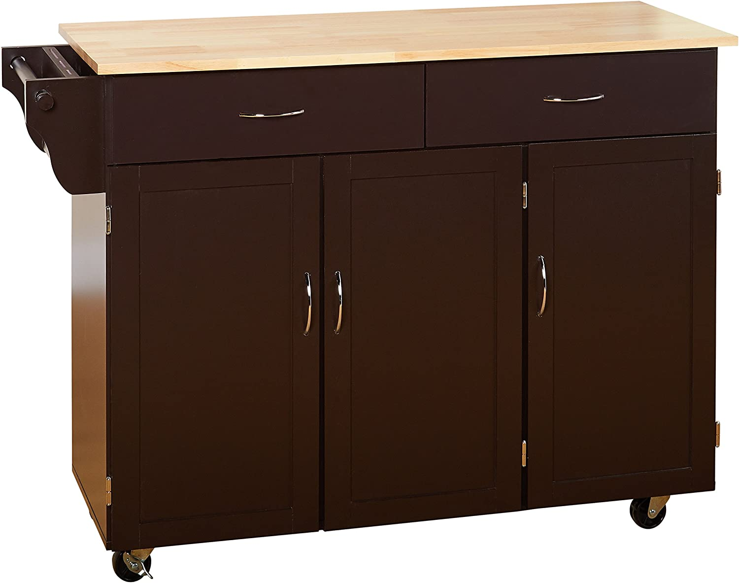Target Marketing Systems XL Kitchen Cart, X-Large, Espresso/Natural