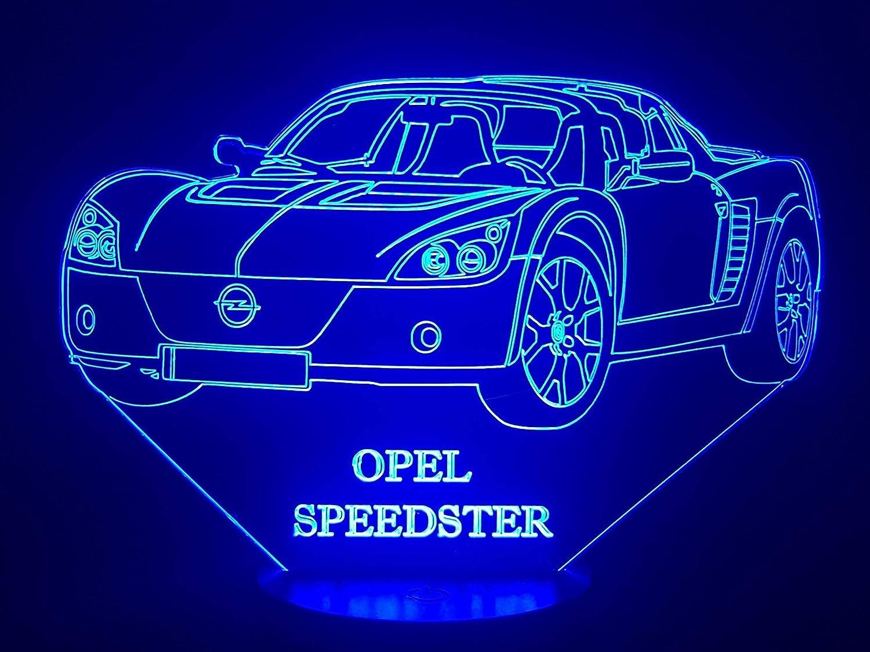 3D-Lampe LED Zeichnung kompatibel mit OPEL SPEEDSTER