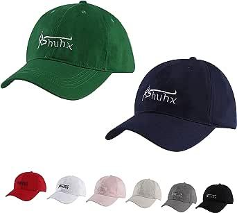 Rshuhx Baseball Cap Classic Unisex Snapback Caps 2 stuks voor baseballfans dames basecap cap meisjes pet één maat verstelbaar met prachtige geschenkdoos passend (zwart + grijs en groen + marineblauw)