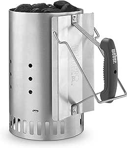 Weber 7429 Rapidfire Chimney Starter, Silver