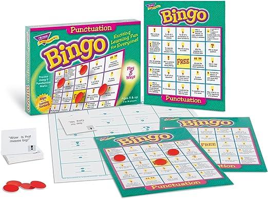 TREND ENTERPRISES INC. Juego de Mesa de Juego de Bingo de Punctuation: Amazon.es: Juguetes y juegos