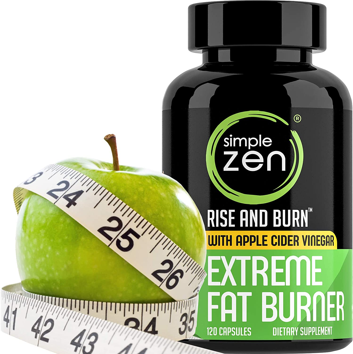 Simple Zen Metabolism Booster for Weight Loss Pills with Apple Cider Vinegar Appetite Suppressant and Green Tea Fat Burner. Best Natural Diet Pills for Women Men. Supplements with Garcinia Cambogia