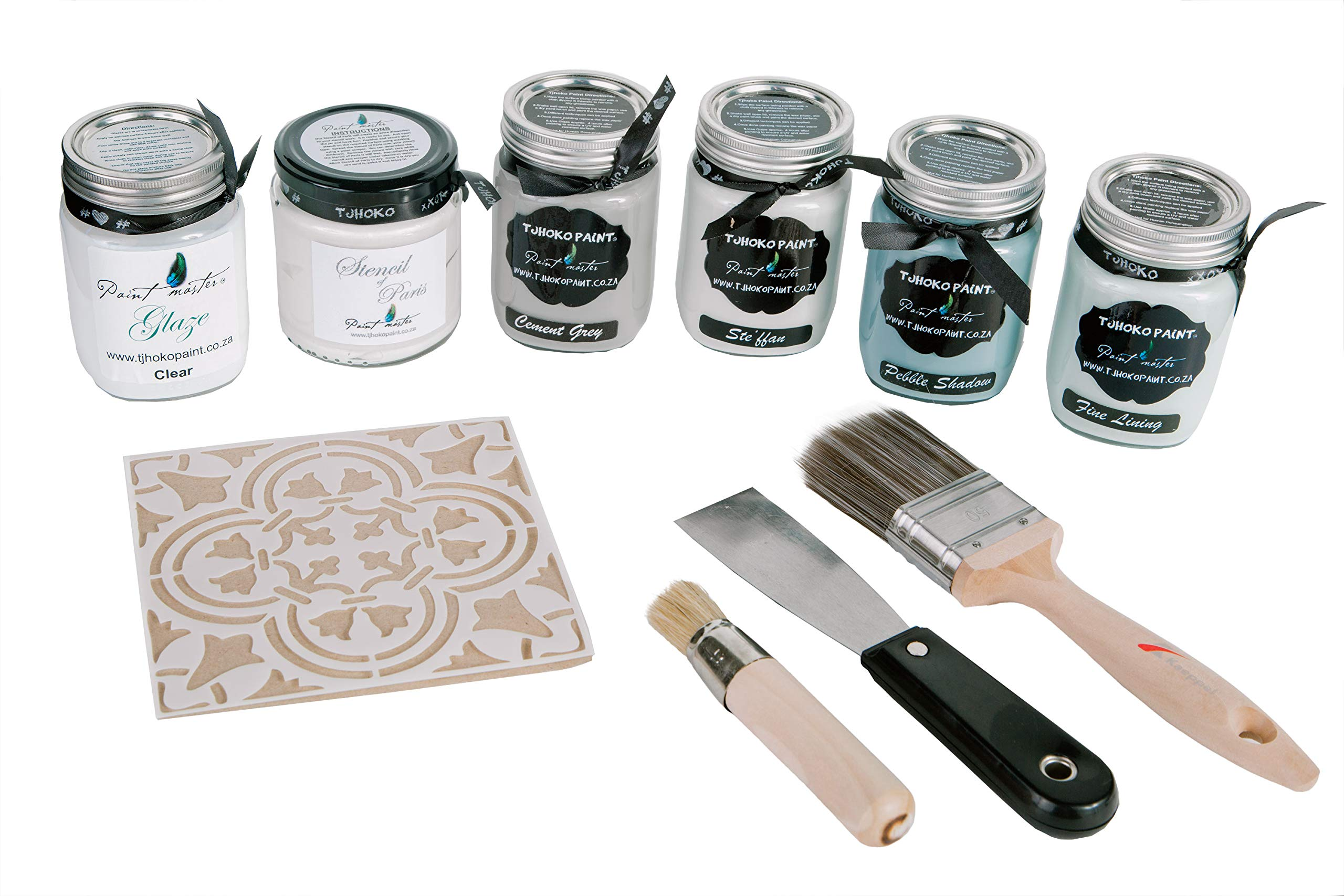 Tjhoko Paint's Deco Art Chalk Paint Kit, No Voc Paint for Chalk Couture and DIY Indoor & Outdoor Furniture, Multi Colors by Tjhoko Paint