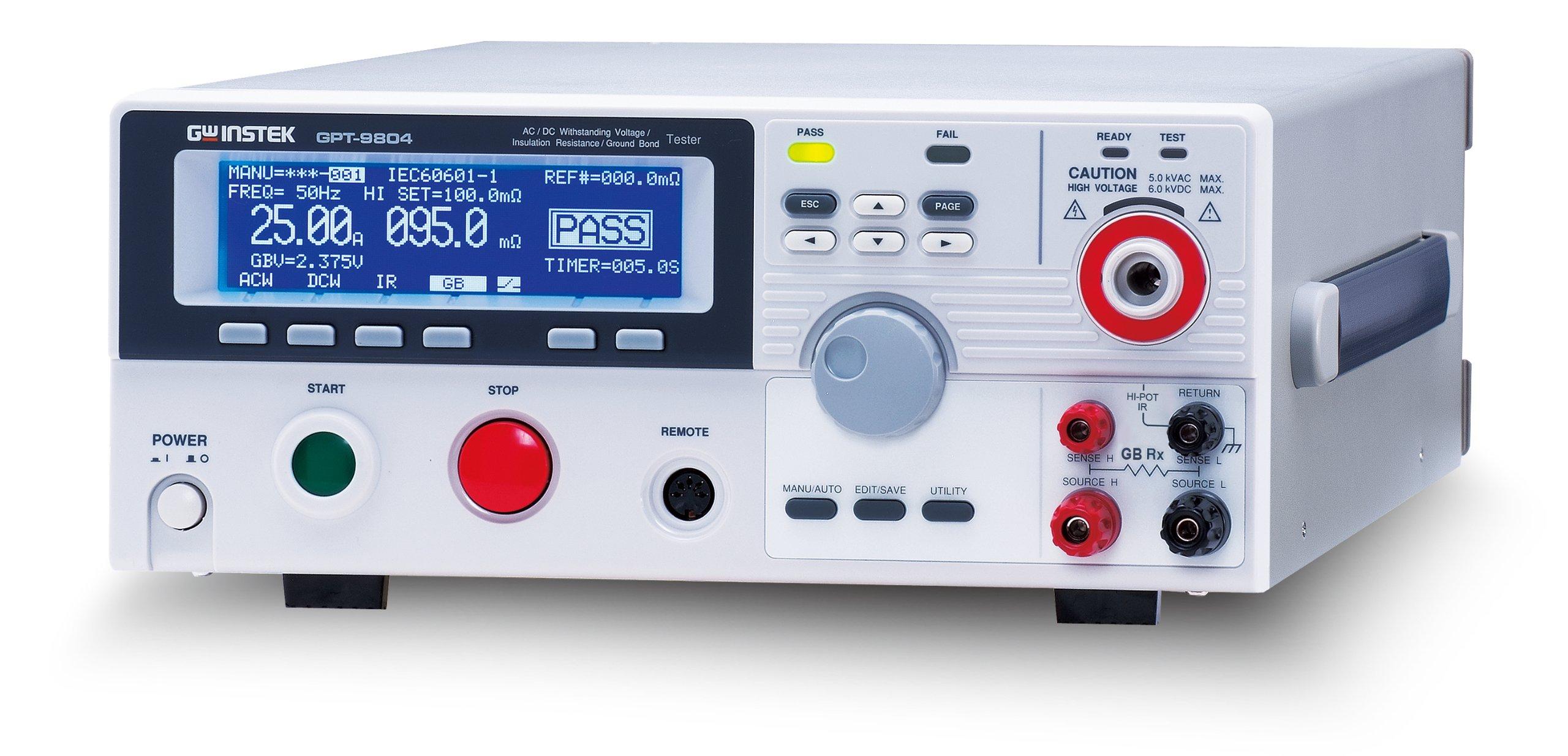 GW Instek GPT-9801 Safety Tester, AC, Withstanding Voltage, 200V