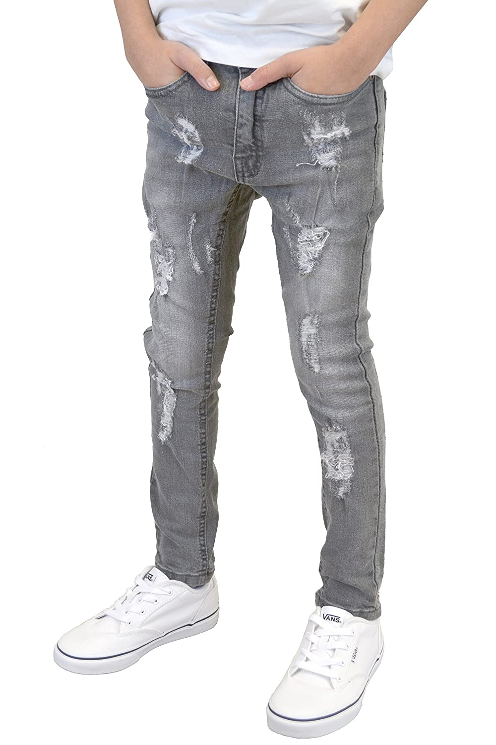 Boys/Kids/Youths Skinny Stretch Ripped/Non Ripped Designer Jeans