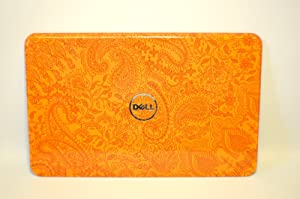 NEW Genuine OEM Dell Inspiron 15R N5110 Laptop Notebook Display Visual Monitor 15.6 Inch Rear Back Switchable Paisley in Orange Cover Top Panel Case Component Support Attachment Assembly Performance LCD LID 6K7MP
