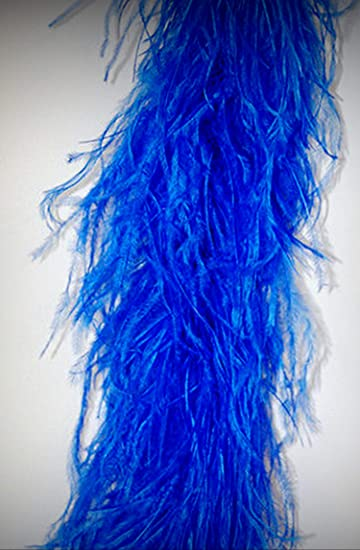 4 Ply OSTRICH FEATHER BOA POWDER BLUE 2 Yards; Costumes//Craft//Bridal//Trim 72/""