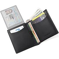 Trifold Bifold RFID Blocking Men's Wallet- Genuine Leather Handmade Slim Wallets for Men