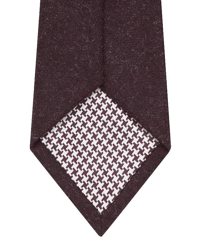 T.M.Lewin Barberis - Corbata de franela de lana, color borgoña ...