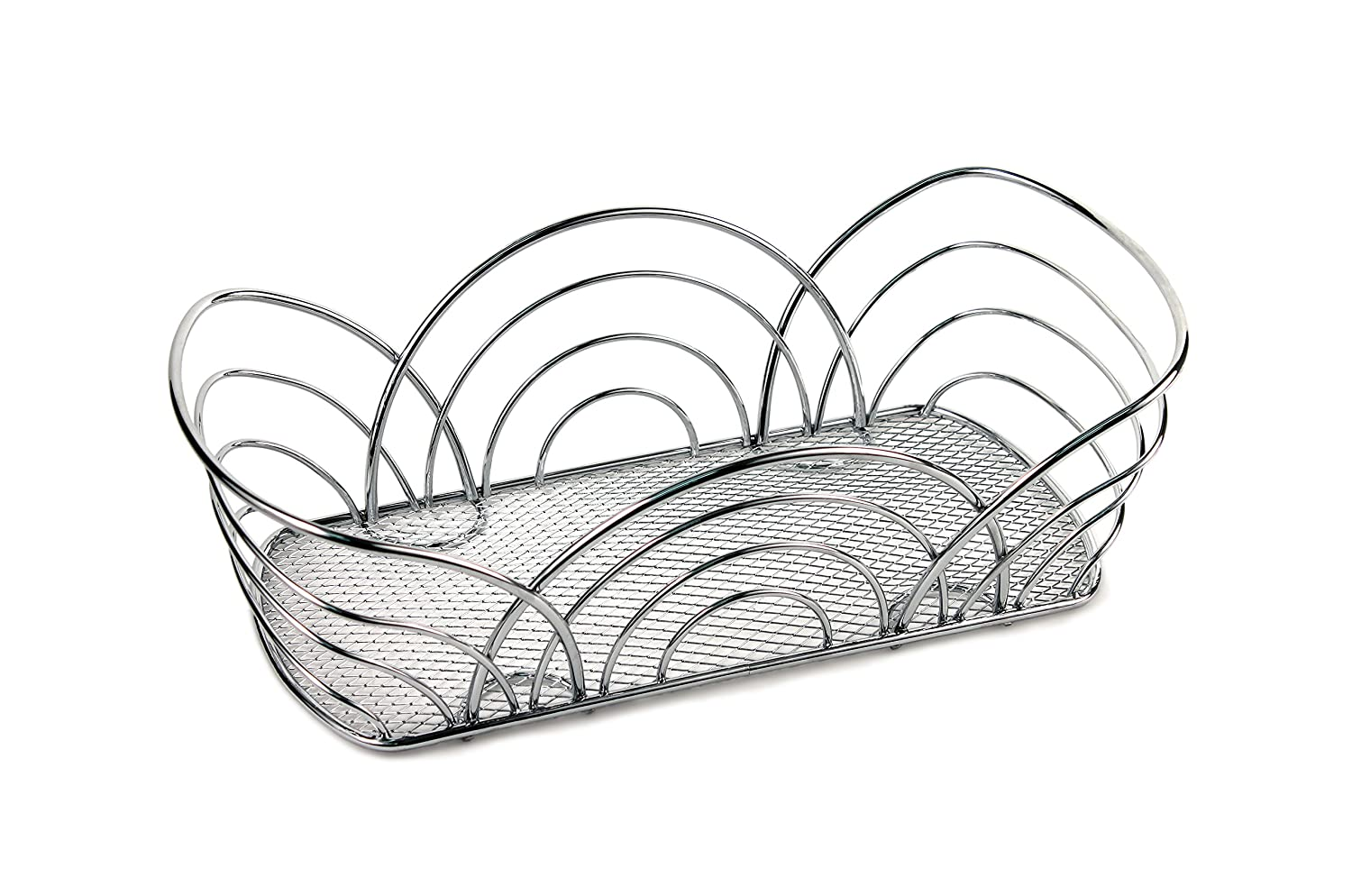Spectrum Diversified Twist Flower Bread Basket, Black Spectrum Diversified Designs Inc. 96810