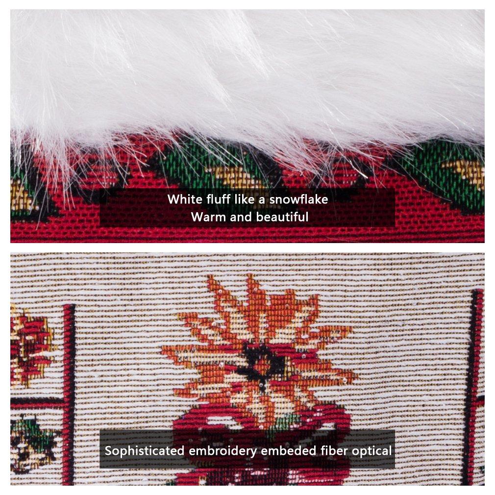 Arelux Novelty Christmas Wall Tapestry Xmas Party Decoration XFH-P003 Twinkle Light Xmas Tree Ilex Aquifolium Xmas Wall Decor 36 x 26-inch Fiber-Optic Wall Hanging Traditional Christmas Wall Hanging
