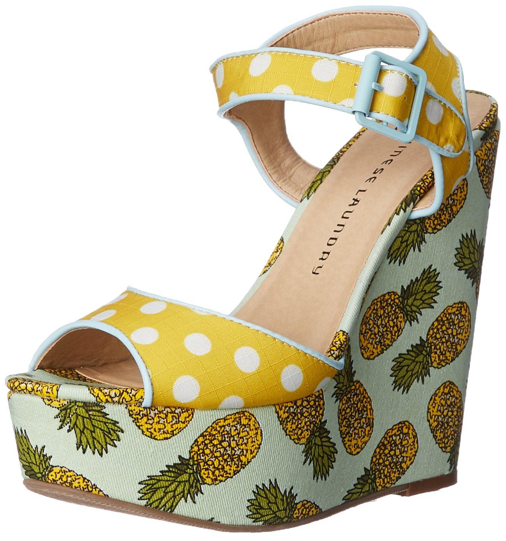 Chinese Laundry Women's Jollypop Wedge Sandal B018RQRYVG 6 B(M) US|Yellow/White