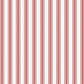 Amazoncom Carousel Designs Red Ticking Stripe Fabric By The Yard