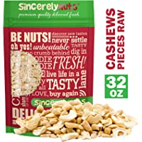 Sincerely Nuts Cashew Pieces (Raw) (2 LB)- Vegan, Keto, Paleo and Gluten-free food-Add to Your Favorite Recipes-Nutritious and Delicious On-the-Go Snack-High in Beneficial Vitamins and Minerals