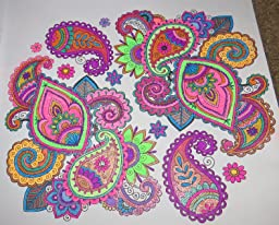 This is a graphic of Epic Colorama Coloring Book Flowers Paisleys Stained Glass And More