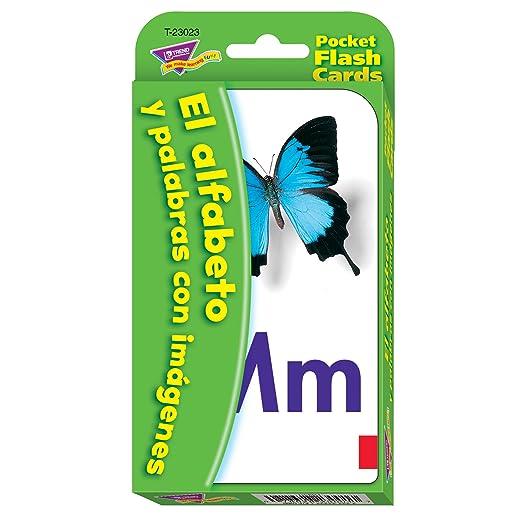 Amazon.com: Spanish Alphabet & Picture Words Pocket Flash Cards: Toys & Games
