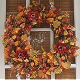 Highland Silk Fall Door Wreath - 22 inches