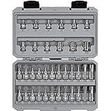 TEKTON 3/8 Inch Drive Torx/TR Torx Bit & External Star Socket Set, 36-Piece (T10-T60, TR10-TR60, E4-E20) | SKT15402
