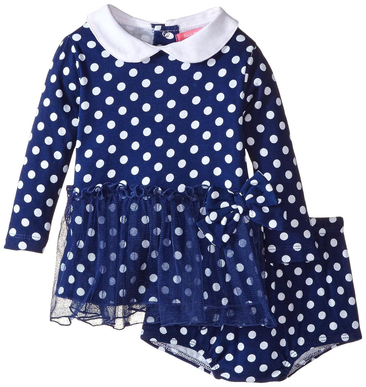 Isaac Mizrahi Baby Girls Polka Dot Skirted Dress with Diaper Cover