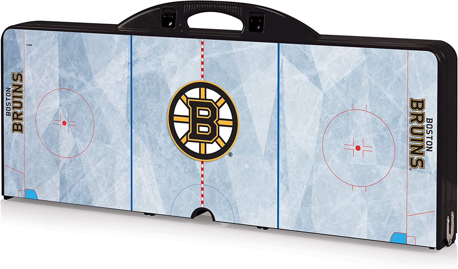Black NHL Boston Bruins Portable Folding Picnic Table with Seating for 4
