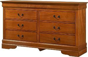"""Glory Furniture LouisPhillipe , Oak Dresser, 33"""" H X 57"""" W X 16"""" D"""