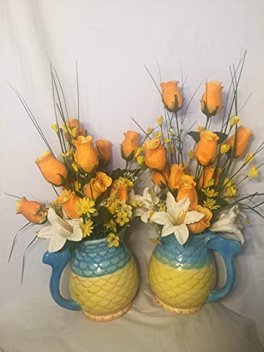 Amazoncom Decorative One Of A Kind Double Matching Vases