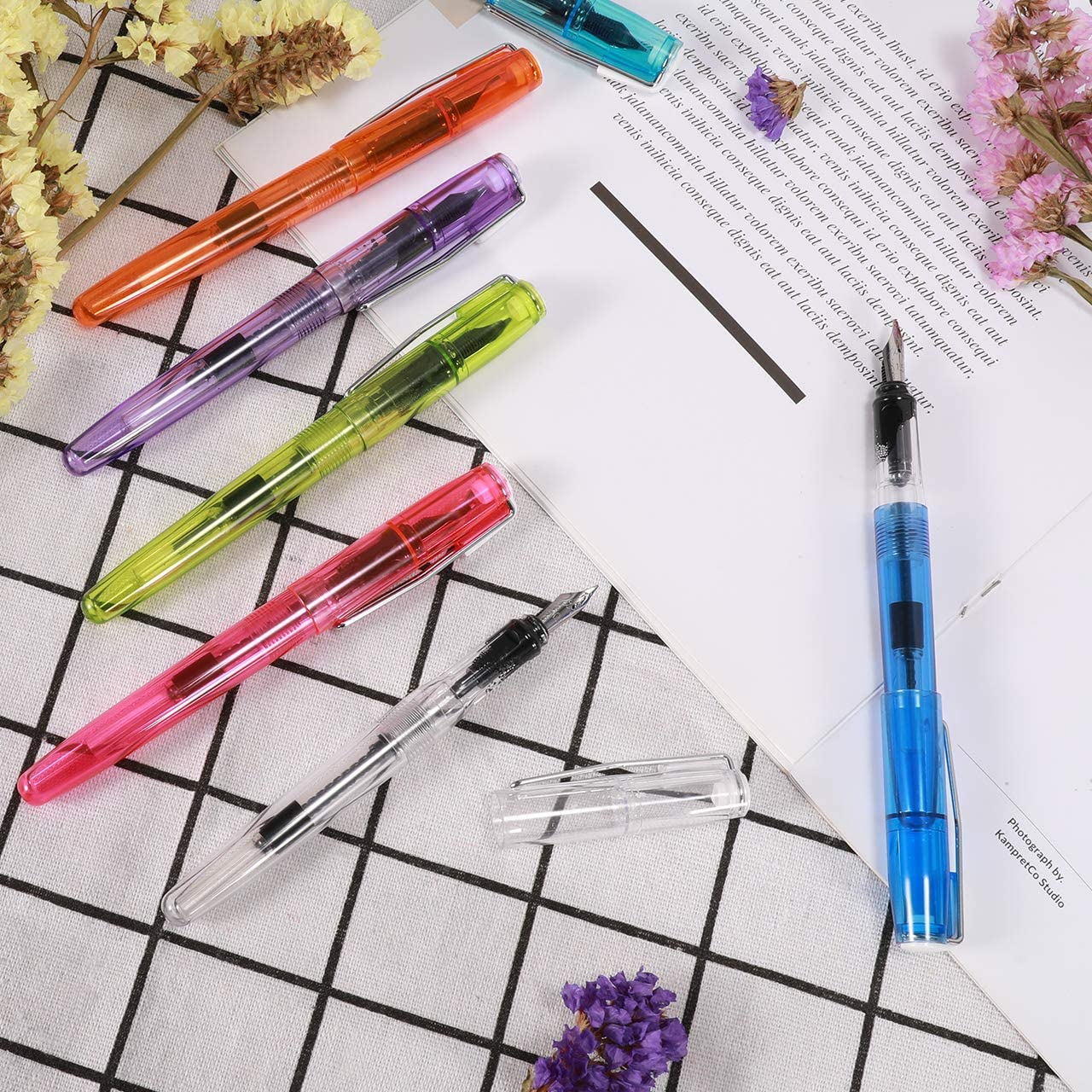 Pen Calligraphy Set with 7 Pens and 24 Colorful Ink Calligraphy Fountain Pen for Beginners Writing Signature Birthday Christmas joylink Calligraphy Pen Set
