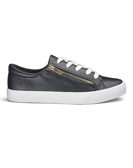J D Williams FQ168 - Zapatillas de Material Sintético Para Mujer, Color Azul, Talla 38: Amazon.es: Zapatos y complementos
