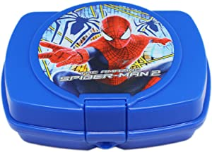 Marvel Comics Spiderman Blue Colored Snap Lock Plastic Sandwich Box