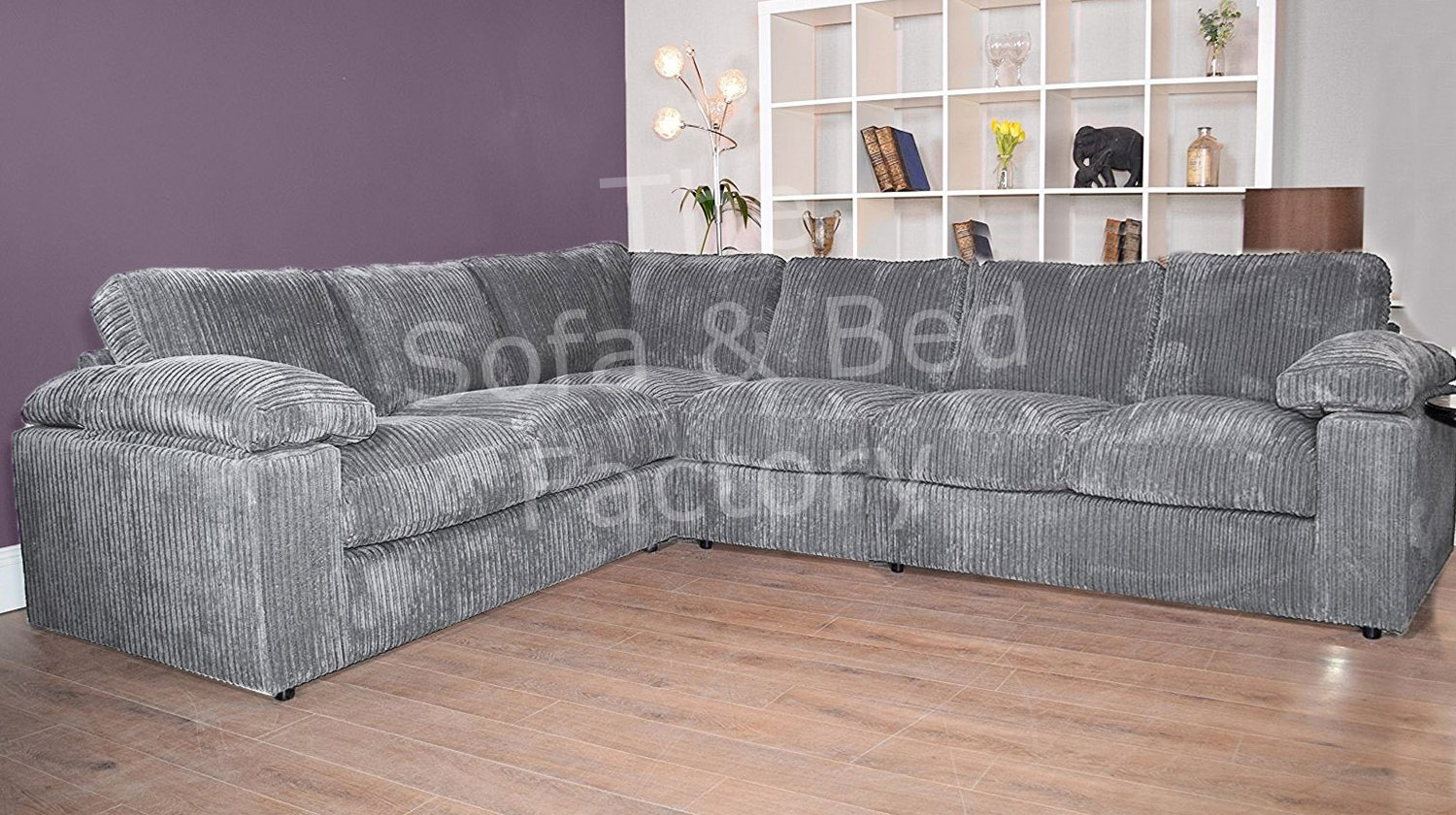 Surprising Details About New Ruxley Large Fabric 6 Seater Corner Sofa 2 Corner 3 Charcoal Grey Cheap Download Free Architecture Designs Embacsunscenecom