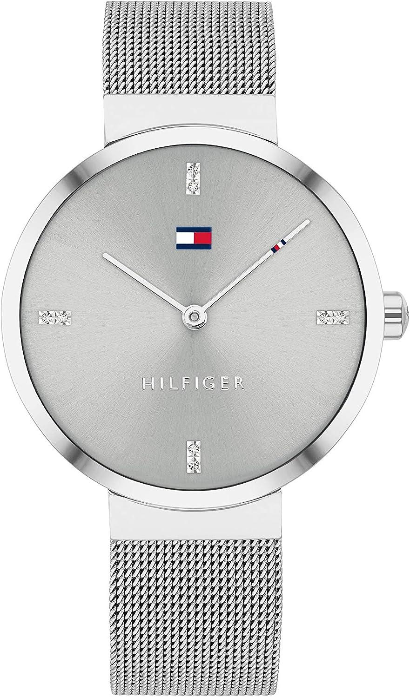 Tommy Hilfiger Reloj Analógico para Mujer de Cuarzo con Correa en Acero Inoxidable 1782220