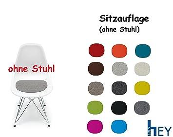 hey sign sitzauflage sitzkissen filz fr vitra stuhl eames plastic side chair antirutsch - Eames Chair Sitzkissen