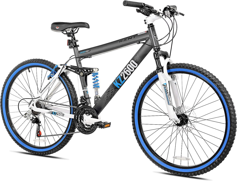 Amazon Com Kent Kz2600 Dual Suspension Mountain Bike 26 Inch Sports Outdoors