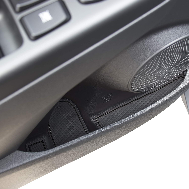Custom Fit Cup Door Center Console Liner Accessories for 2018 2019 Hyundai Kona 19PC Set Blue Trim