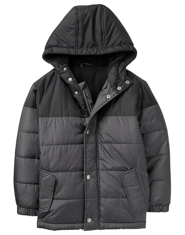 Crazy 8 Boys Little Long Sleeve Colorblock Hooded Puffer Jacket