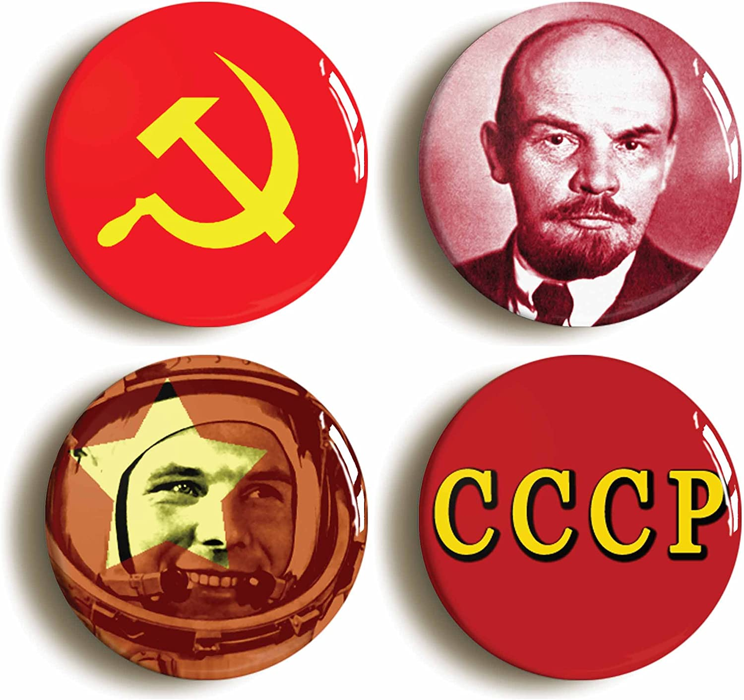 25mm Button Badge Hammer and Sickle//Communist