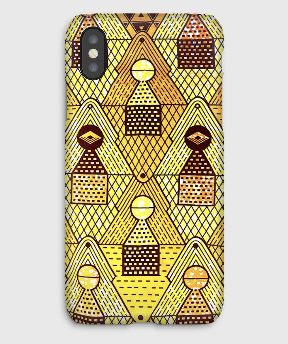 Wax africain motif jaune, coque pour iPhone XS, XS Max, XR, X, 8, 8+, 7, 7+, 6S, 6, 6S+, 6+, 5C, 5, 5S, 5SE, 4S, 4,