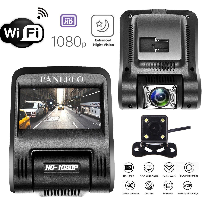 ダッシュカム Enhanced Night Vision ブラック Panlelo B076F5WV8K   Enhanced Night Vision