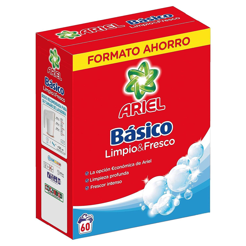 Ariel Básico Detergente en Polvo - 60 Lavados: Amazon.es: Amazon ...