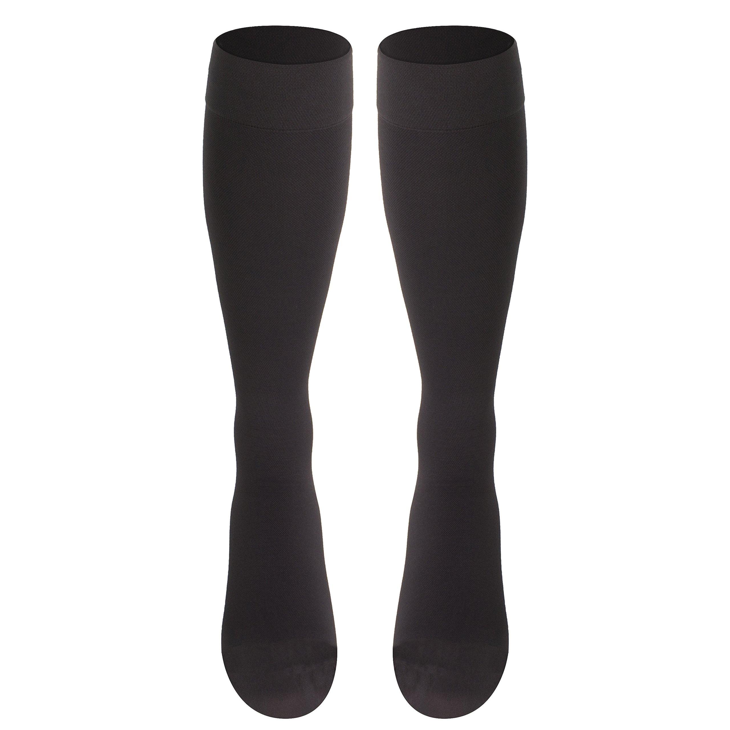 Truform Compression Stockings, 20-30 mmHg, Knee High, Charcoal, Medium