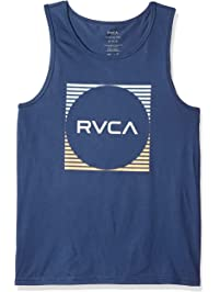 81174fed350f42 RVCA Mens Motorstripe Tank Top T-Shirt